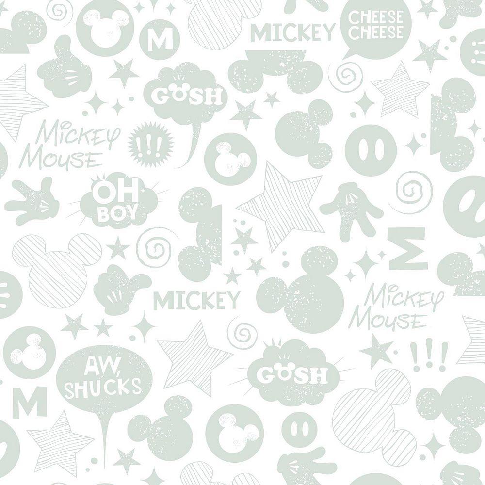 RoomMates Mickey Mouse Icons Papier Peint Auto-Adhesif