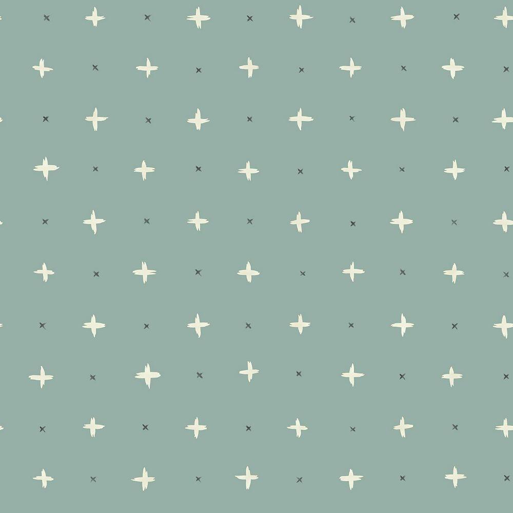 Joanna Gaines Cross Stitch Lt. Green Wallpaper