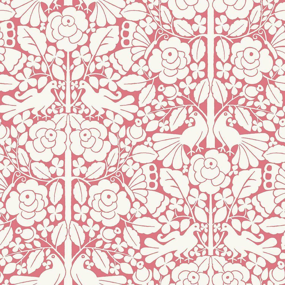 Joanna Gaines Fairy Tales DK Pink Wallpaper