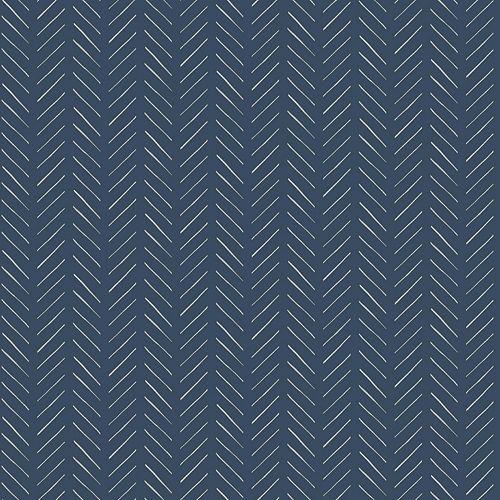 Pick-Up Sticks Dk Blue Wallpaper