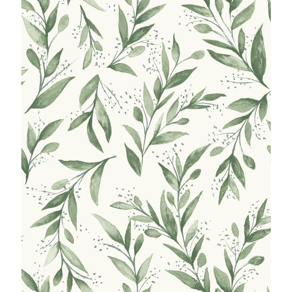 Joanna Gaines Olive Branch Green Wallpaper