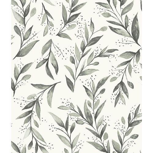 Olive Branch Black Wallpaper