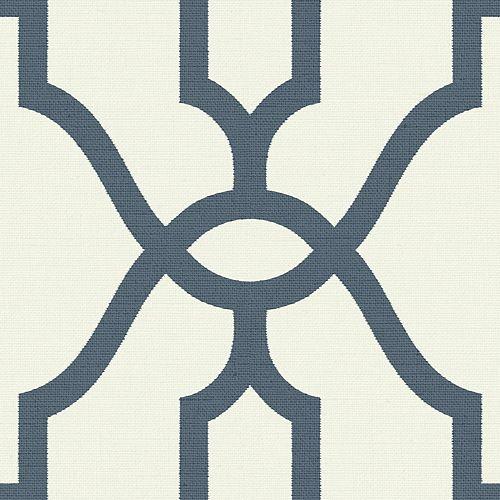 Woven Trellis Blue Wallpaper