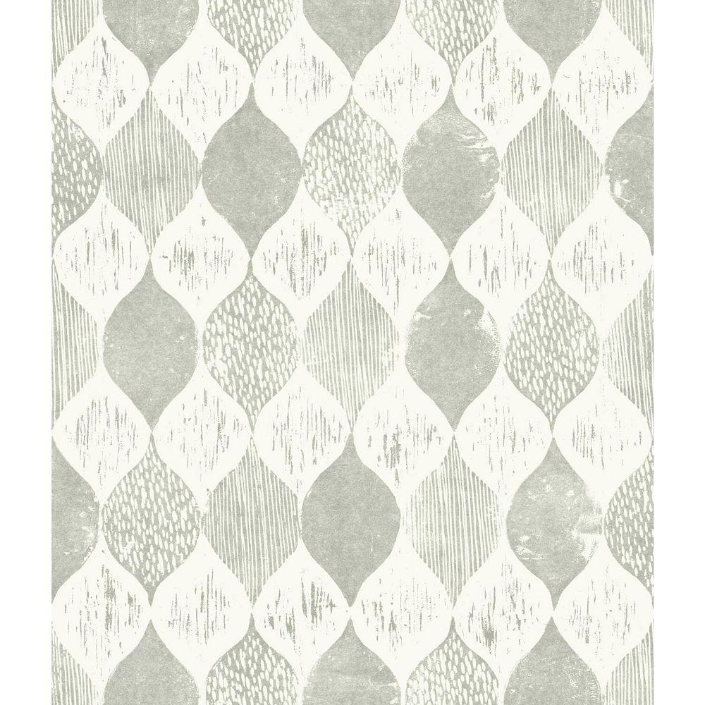 Joanna Gaines Woodblock Print Gris Papier Peint