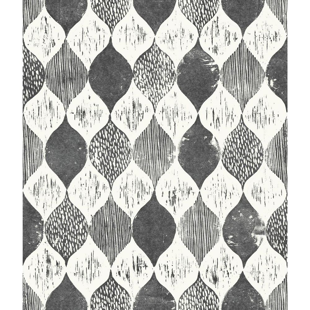 Joanna Gaines Woodblock Print Blanc Papier Peint