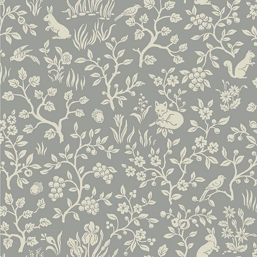 Joanna Gaines Fox & Hare Grey Wallpaper