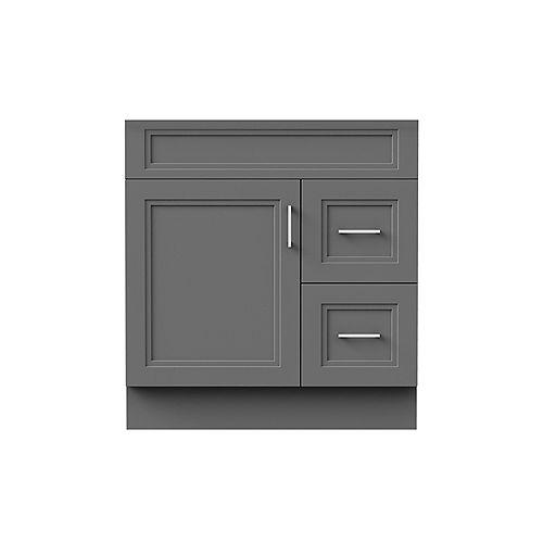 Sutton 30-inch W 21-inch D Vanity Base in grey