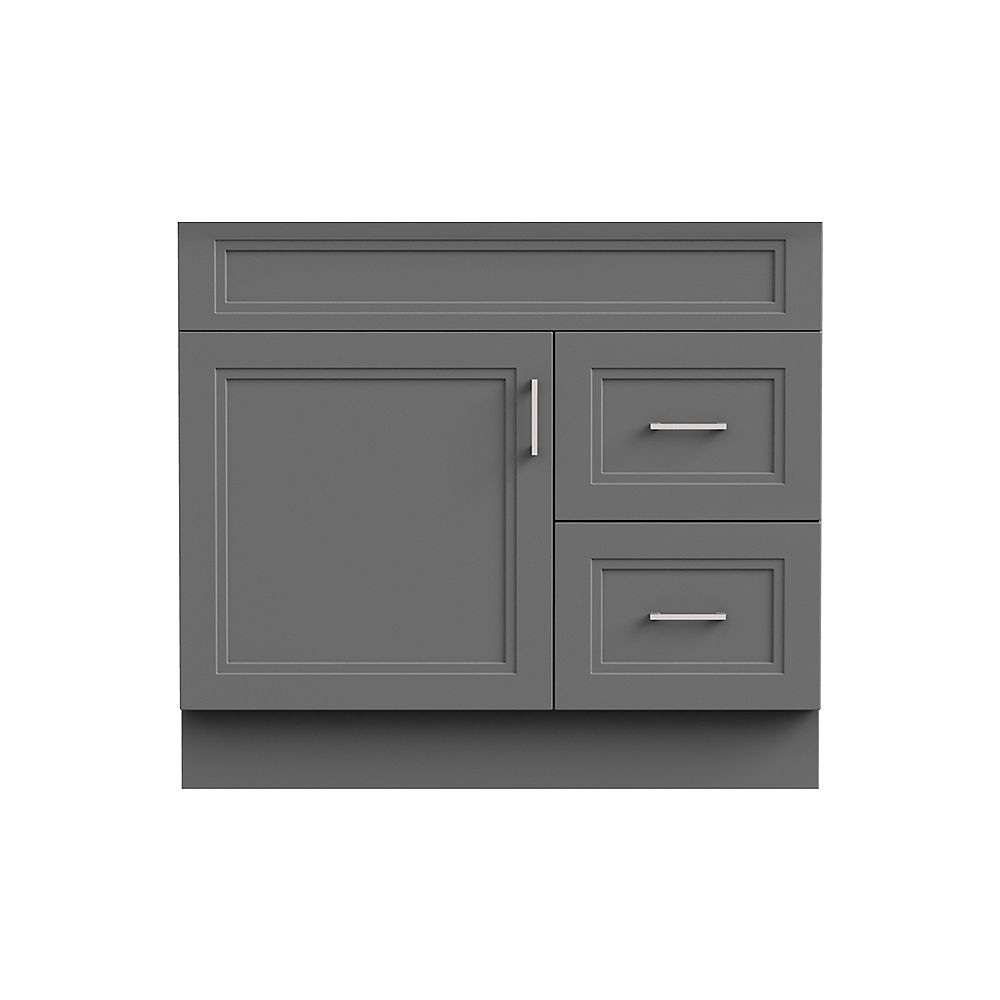 Magick Woods Sutton 36-inch W 21-inch D Vanity Base in grey