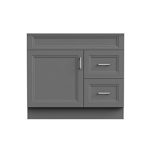 Sutton 36-inch W 21-inch D Vanity Base in grey