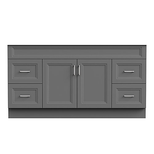 Sutton 60-inch W 21-inch D Vanity Base in grey for Single Bowl