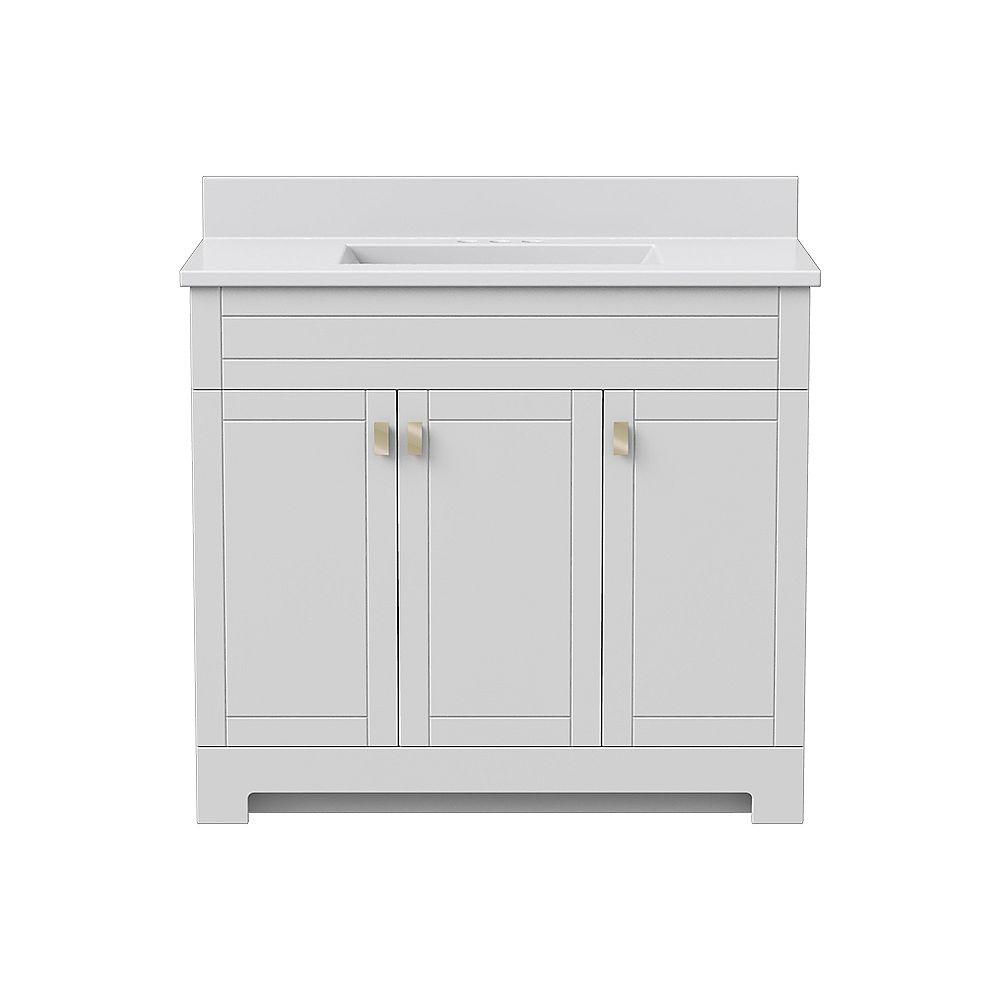 Magick Woods ensemble de meuble-lavabo Essex de 37 po L 19 po P en blanc mat