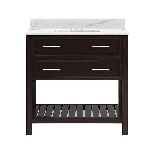 Sorrento 37-inch W 22-inch D Vanity Ensemble in Espresso