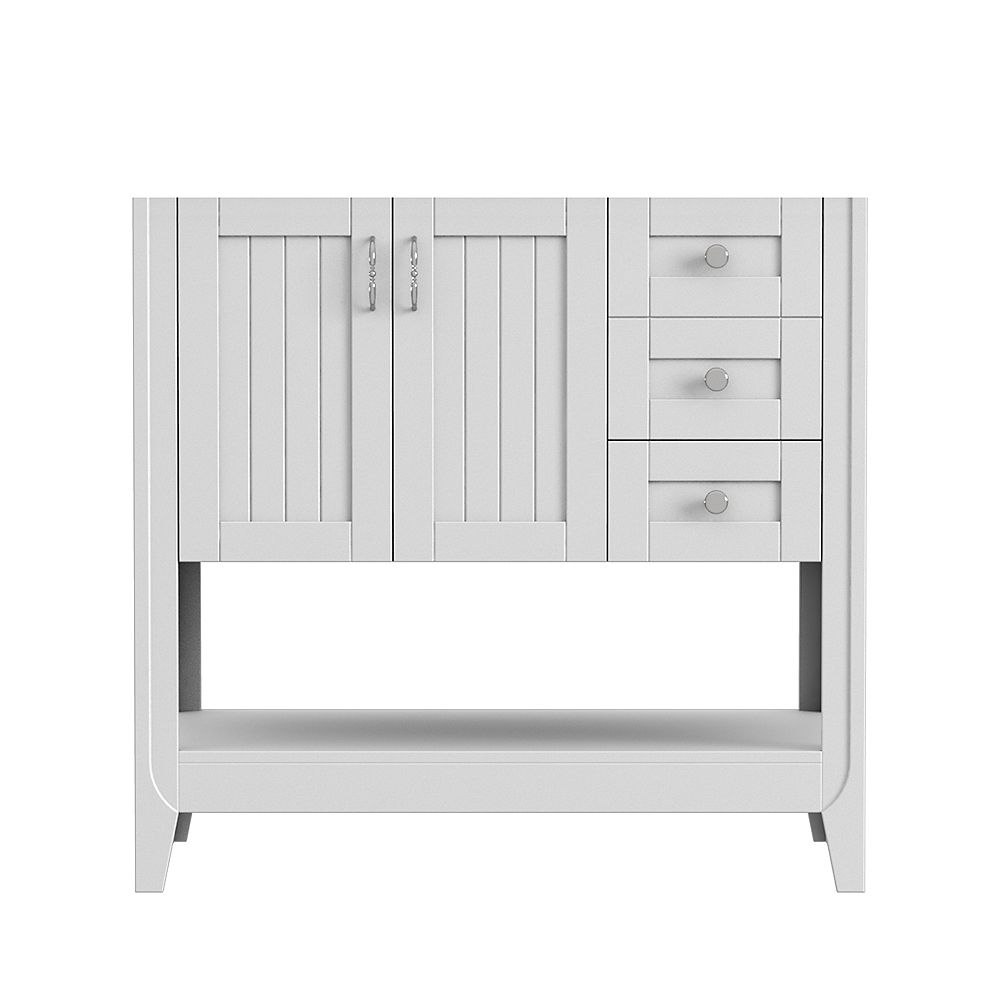 Magick Woods Newhaven 36-inch W 21-inch D Vanity base in Matte White