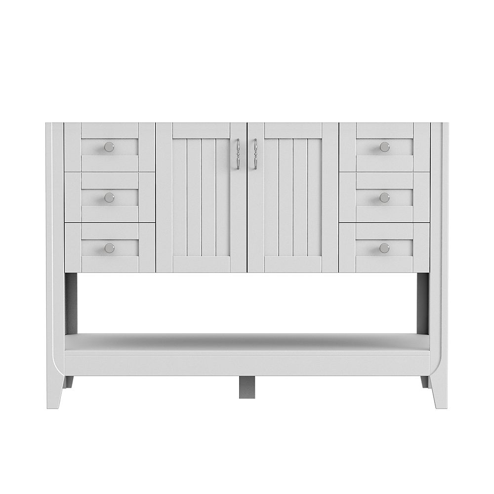 Magick Woods Newhaven 48-inch W 21-inch D Vanity base in Matte White
