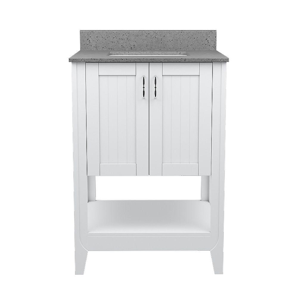 Magick Woods Newhaven base de meuble-lavabo de 25 p L 22 p P / comptoir rectangulaire intégré pewter