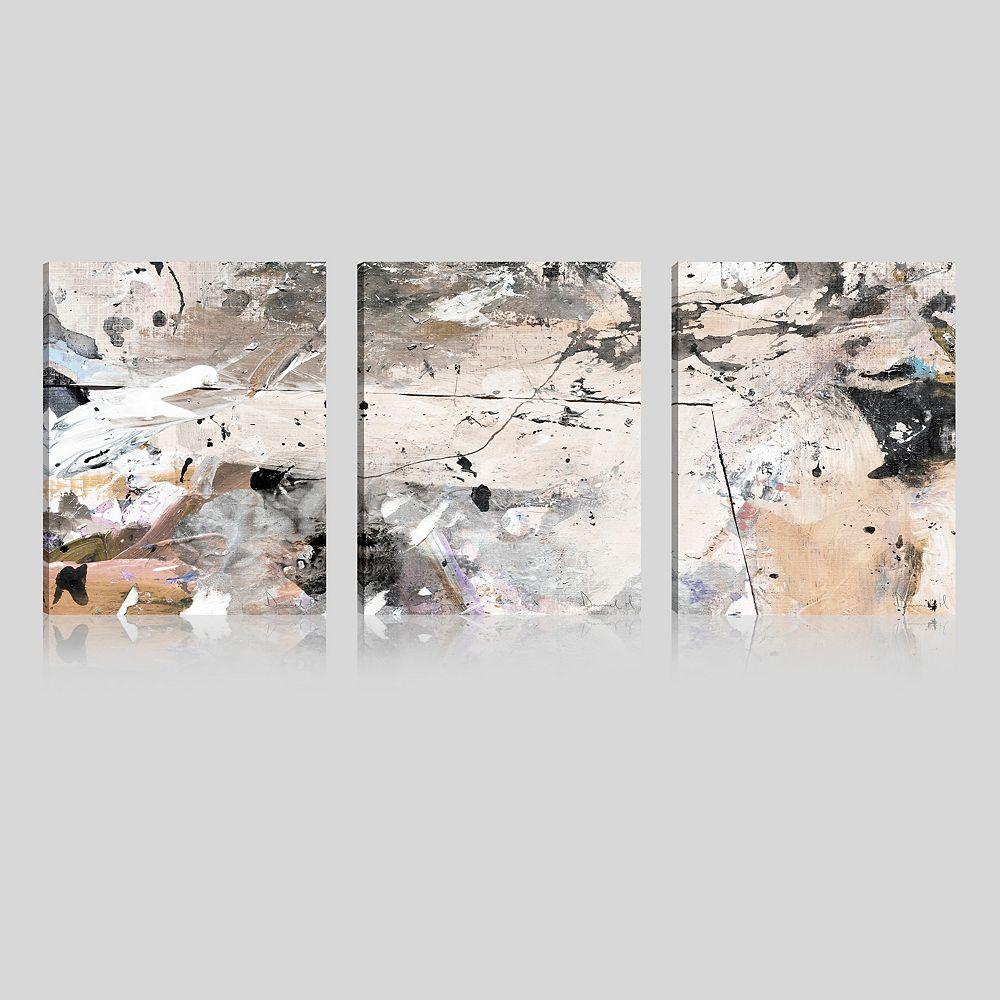 ArtMaison Canada ArtMaison Canada, résumé Brown Marble Giclee galerie emballés Art mur de toile-Ensemble de 3