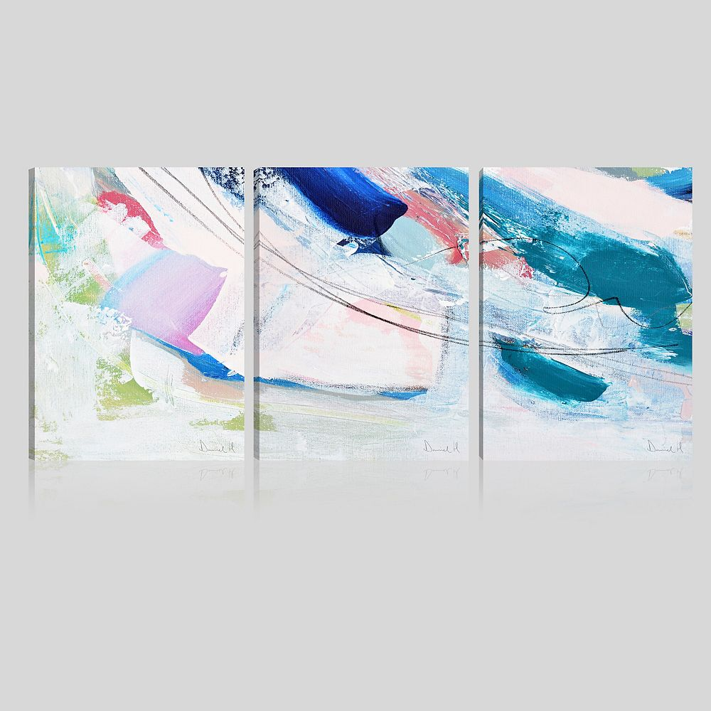 ArtMaison Canada Art Maison Canada,Abstract Multi Effect Giclee Gallery Wrapped Canvas Wall Art-Set of 3-12x16