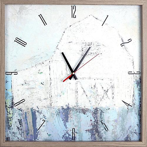 paysagisme abstrait grange photographie encadrée Texture décoratif horloge Art silencieux,|21X21