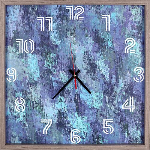 Animal Moose rouge encadré Texture décorative silencieuse Art horloge|15 X 15|Rouge, gris, noir