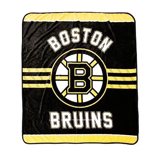 Boston Bruins Luxury Velour Blanket
