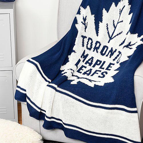NHL Jeté en tricot acrylique LNH - Maple Leafs de Toronto