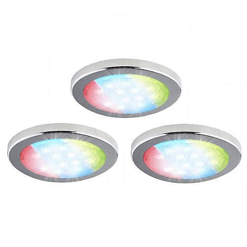 3 Pack Under Cabinet LED RGD Puck