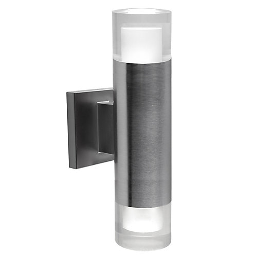 Luvia Round Bulb LED Outdoor Wall Fixture in Stainless Steel