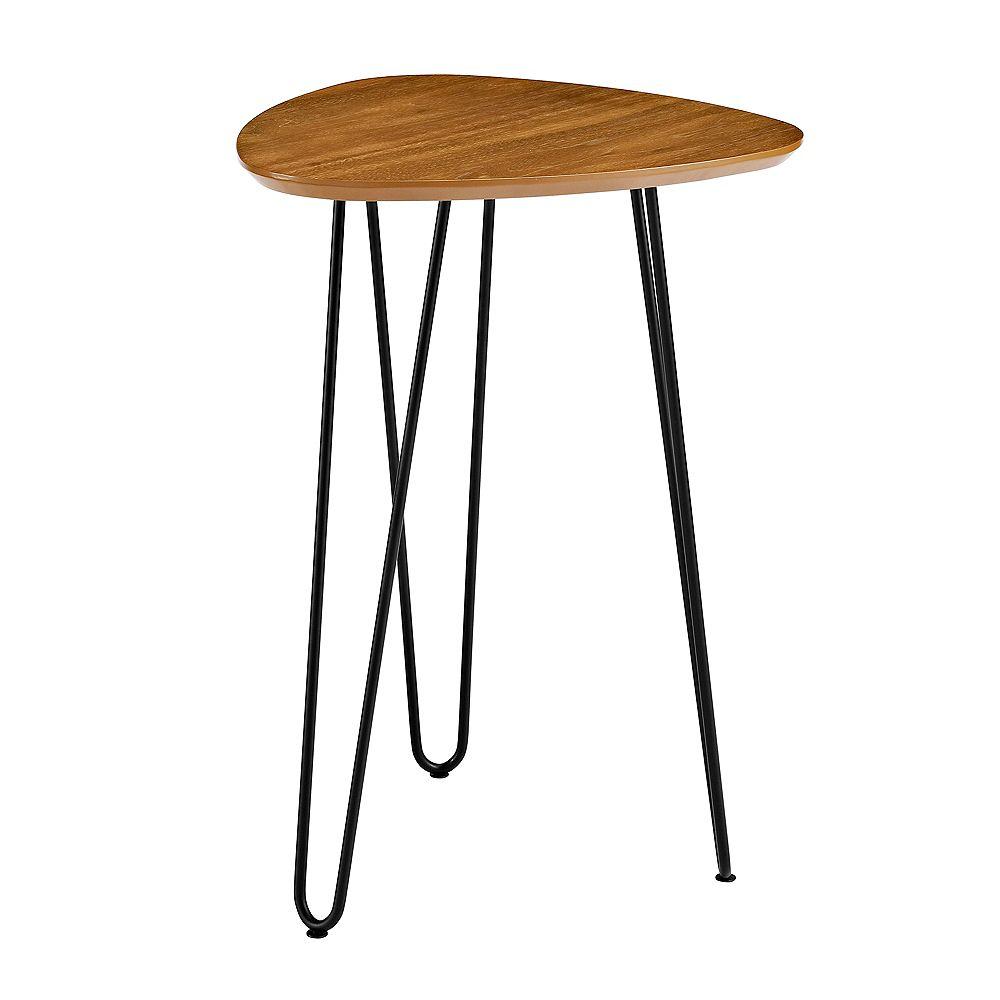 Welwick Designs Table d'appoint en bois à pieds en épingles à cheveux de 45,72 cm (18 po) - Noyer