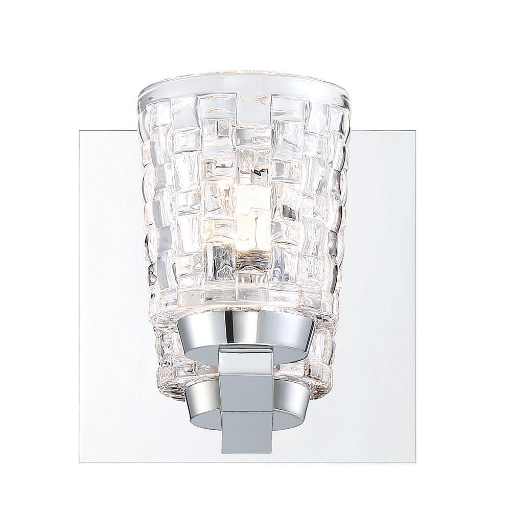 Eurofase Applique murale Banbury à verre tissé à 1 ampoule DEL