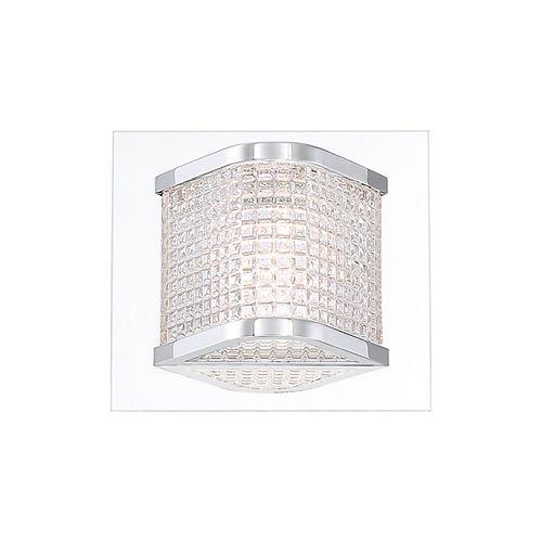 Belgrove Retro Prism Glass 1-Light LED Wall Sconce