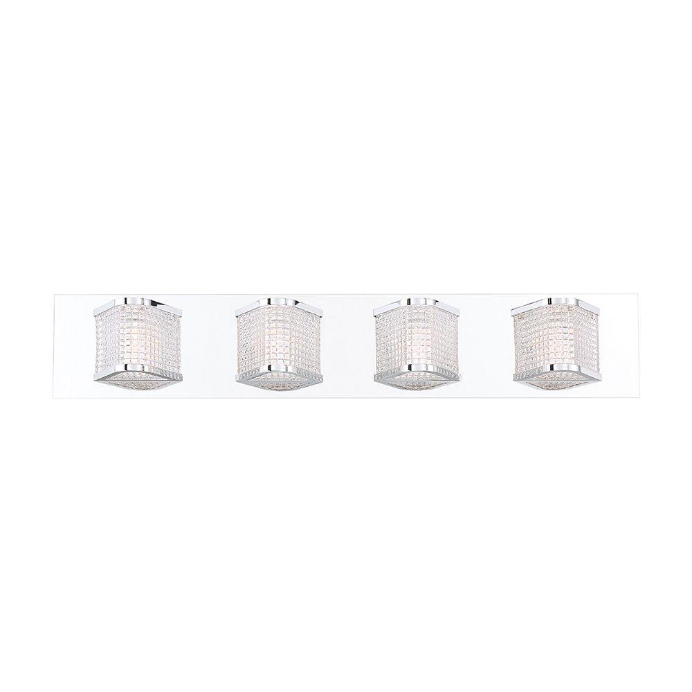 Eurofase Belgrove Retro Prism Glass 4-Light LED Vanity Bathbar