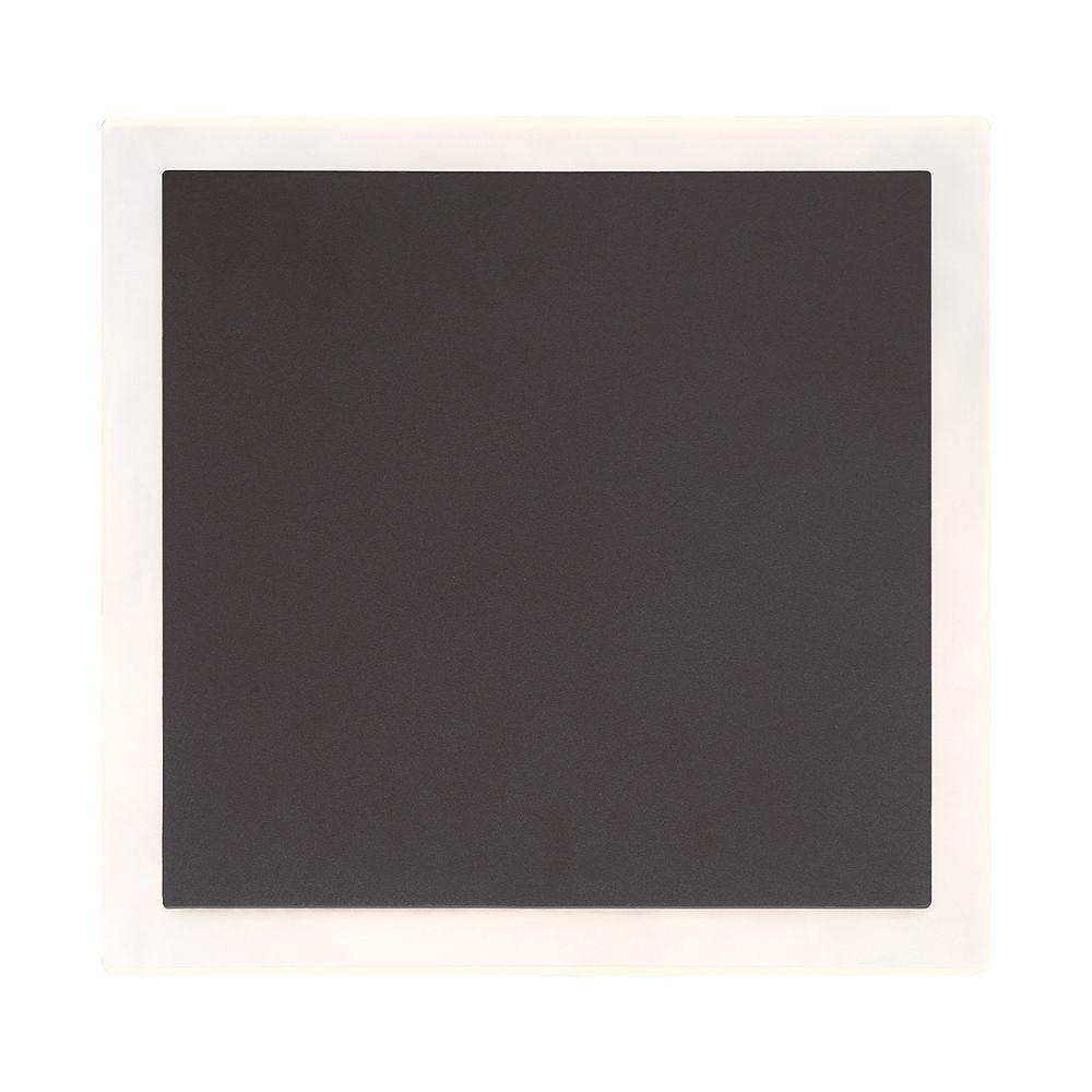 Eurofase Grand luminaire à montage en surface à DEL carré pour l'extérieur fini gris graphite