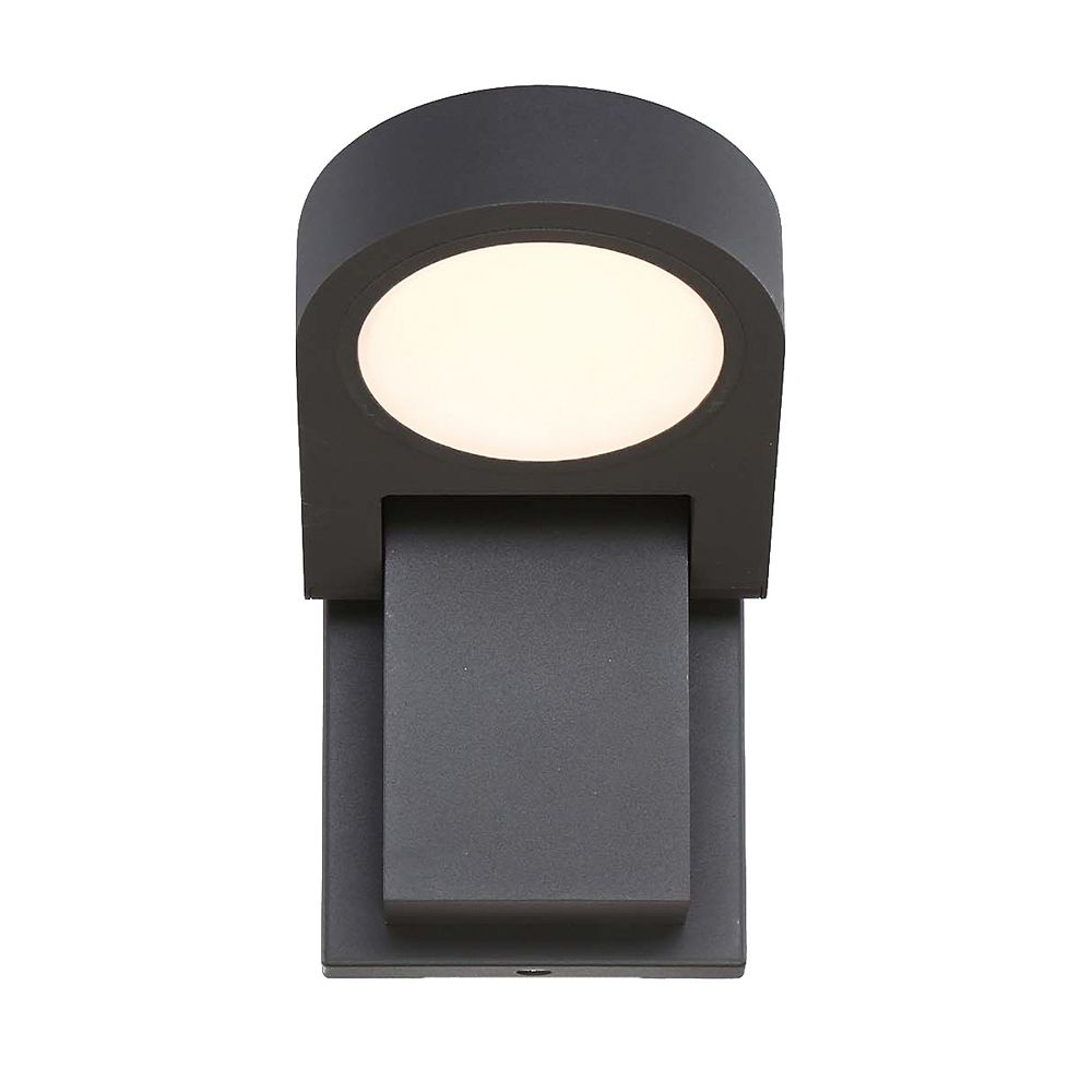 Eurofase Outdoor Adjustable Rounded LED Wall Mount in Graphite Grey