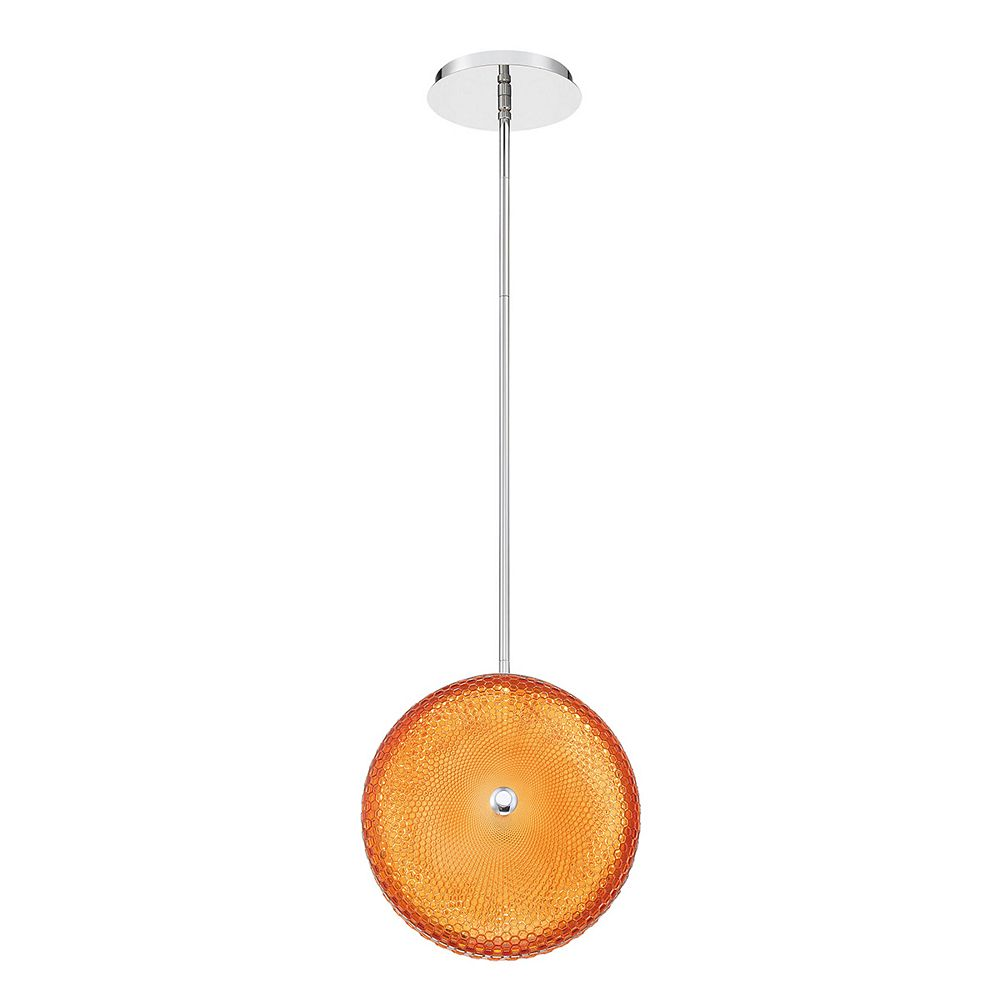 Eurofase Caledonia LED Large Light Pendant in Orange