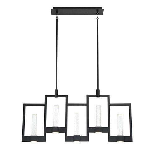 Eurofase Hanson Black Up and Down Light LED Linear Chandelier