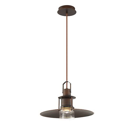 Eurofase Lamport 1-Light LED Pendant in Bronze