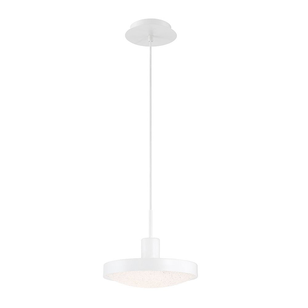 Eurofase Sandstone LED Small White Pendant