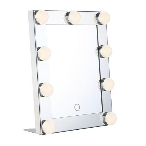 Mini-miroir Hollywood à DEL portatif
