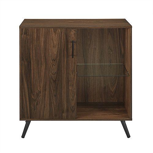 Mid-Century Modern TV Stand Cabinet for TV's up to 32 inch- Dark Walnut