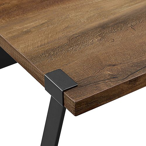 Industrial Farmhouse Accent and Entryway Table - Reclaimed Barnwood