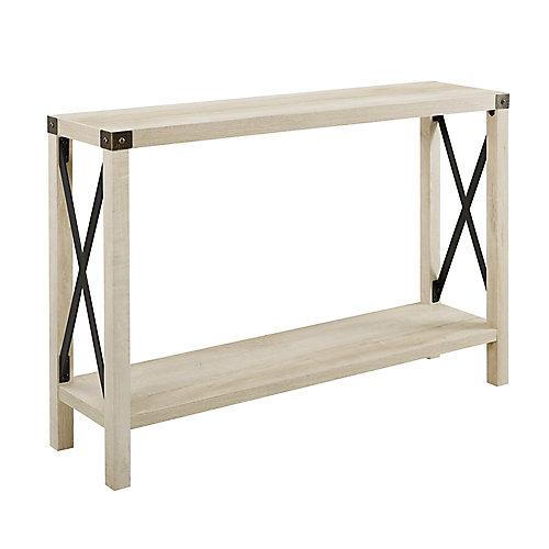 Table d'entrée rustique de style campagnard de 116,84 cm (46 po) - Chêne blanc