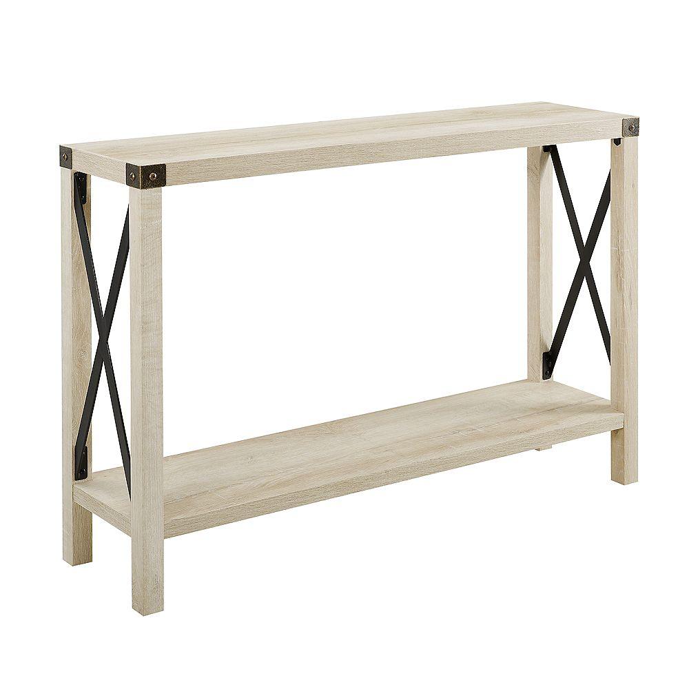 Welwick Designs Table d'entrée rustique de style campagnard de 116,84 cm (46 po) - Chêne blanc