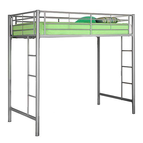 Lit mezzanine simple en métal Premium - Argent