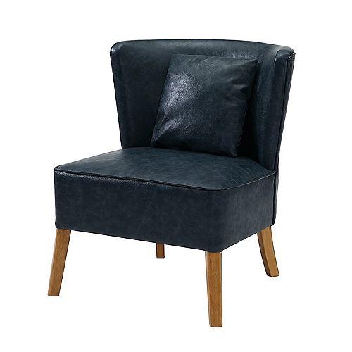 Modern Lounge Accent Chair - Navy Blue