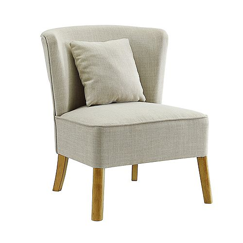Modern Lounge Accent Chair - Ivory