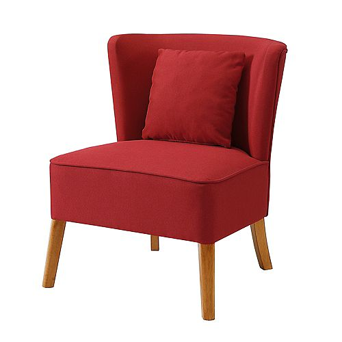 Modern Lounge Accent Chair - Red