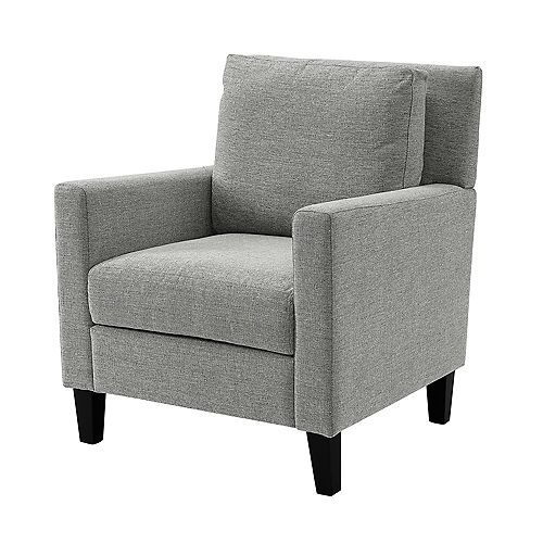 Upholstered Lounge Chair - Grey