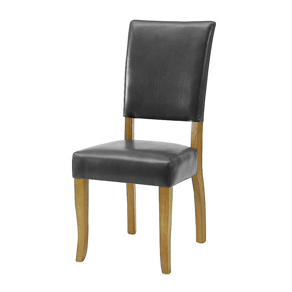 Welwick Designs Upholstered Parsons Dining Chair, Set of 2 - Charcoal