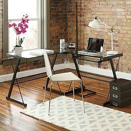 Bureau d'ordinateur de coin en L pour bureau à domicile de 129,54 cm (51 po) - Multi