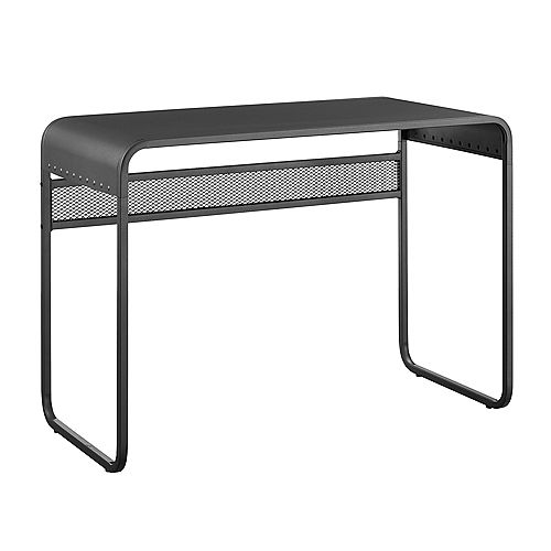 Industrial Metal Computer Writing Desk - Gunmetal Grey
